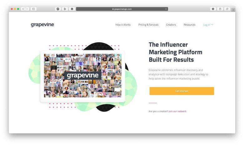 Grapevine Influencer Marketing Search Platform