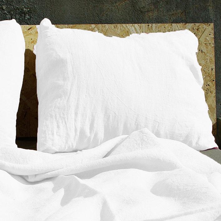 linen pillow case white
