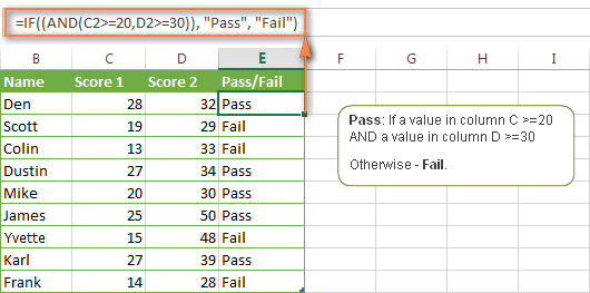 Excel IF function with multiple AND conditions