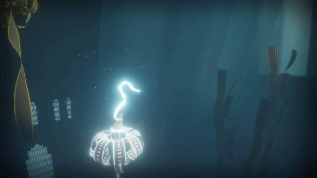 A screenshot from the game Journey