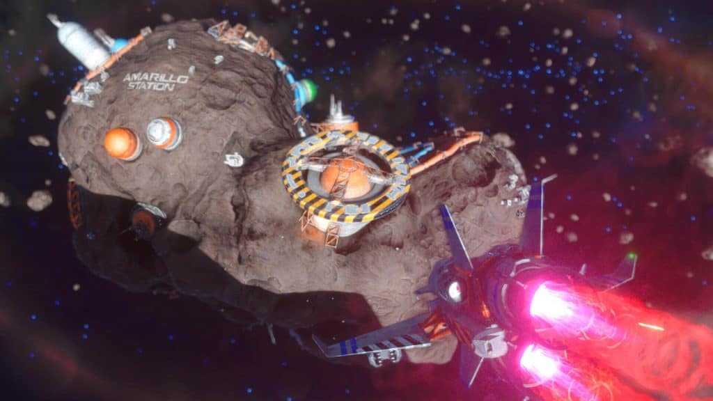 A screenshot from Rebel Galaxy Outlaw