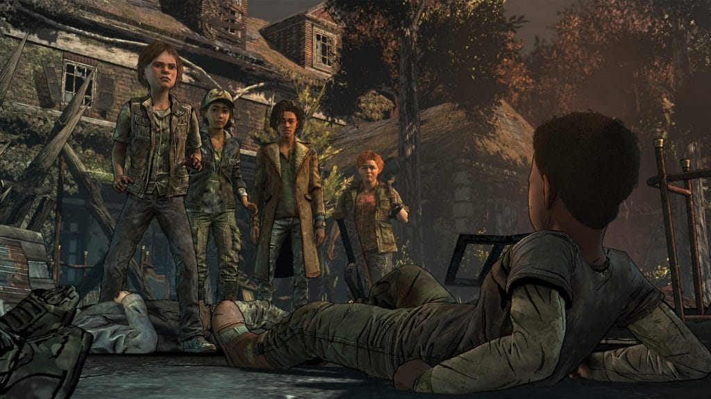 A screenshot from the Walking Dead Final Season game