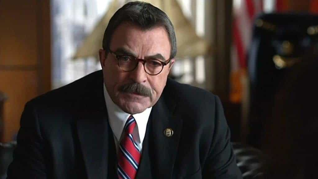 A screenshot of Frank Reagan in a scene on Blue Bloods.