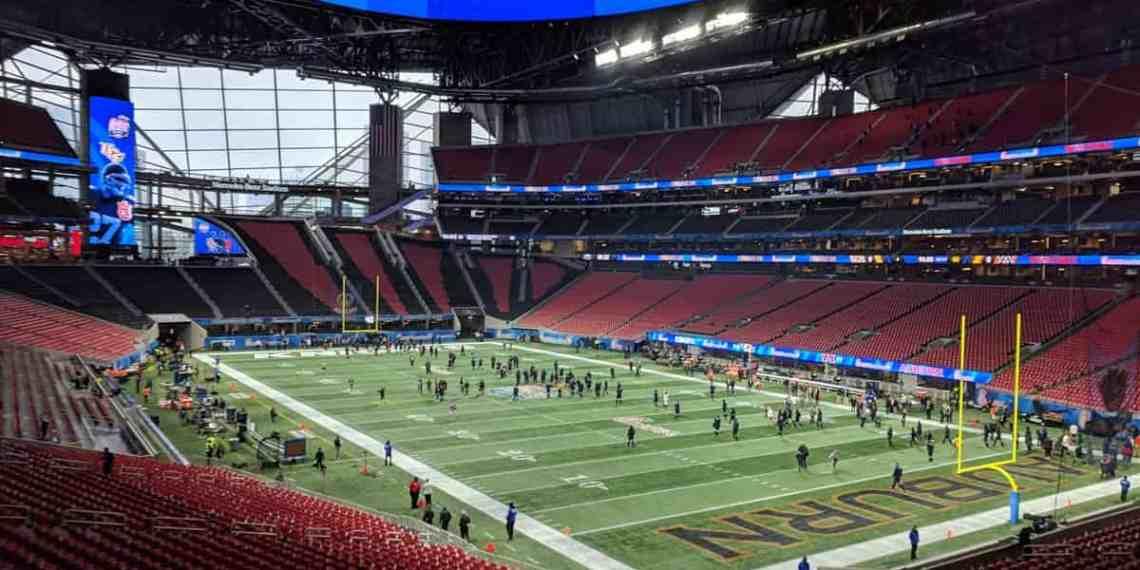 The Mercedes-Benz Stadium, the host venue for Super Bowl LIII (Image Credits: elisfkc / Flickr / Wikimedia Commons)