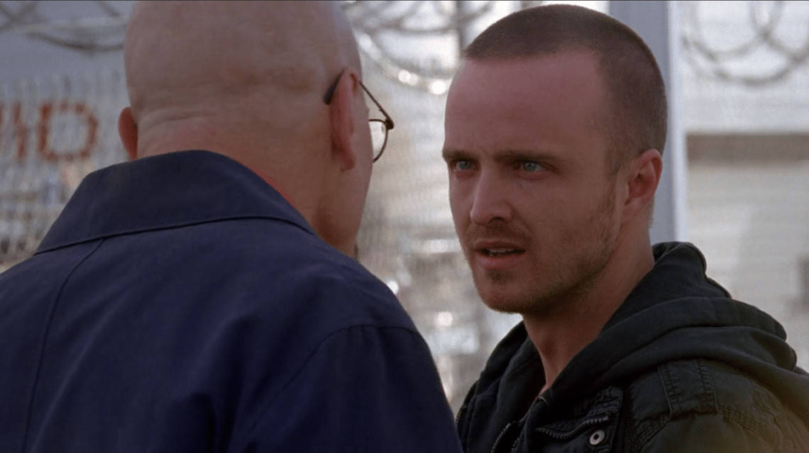 """Jesse Pinkman and Walter White arguing about a potential kink in their plans against Gustavo Fring in """"Breaking Bad's"""" latter seasons (Image Credits: AMC)"""