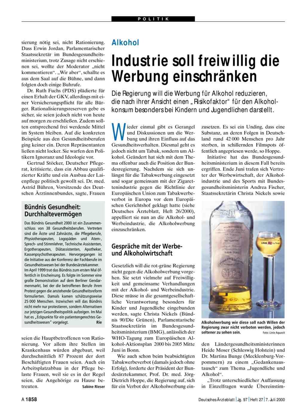 alkohol industrie soll freiwillig die
