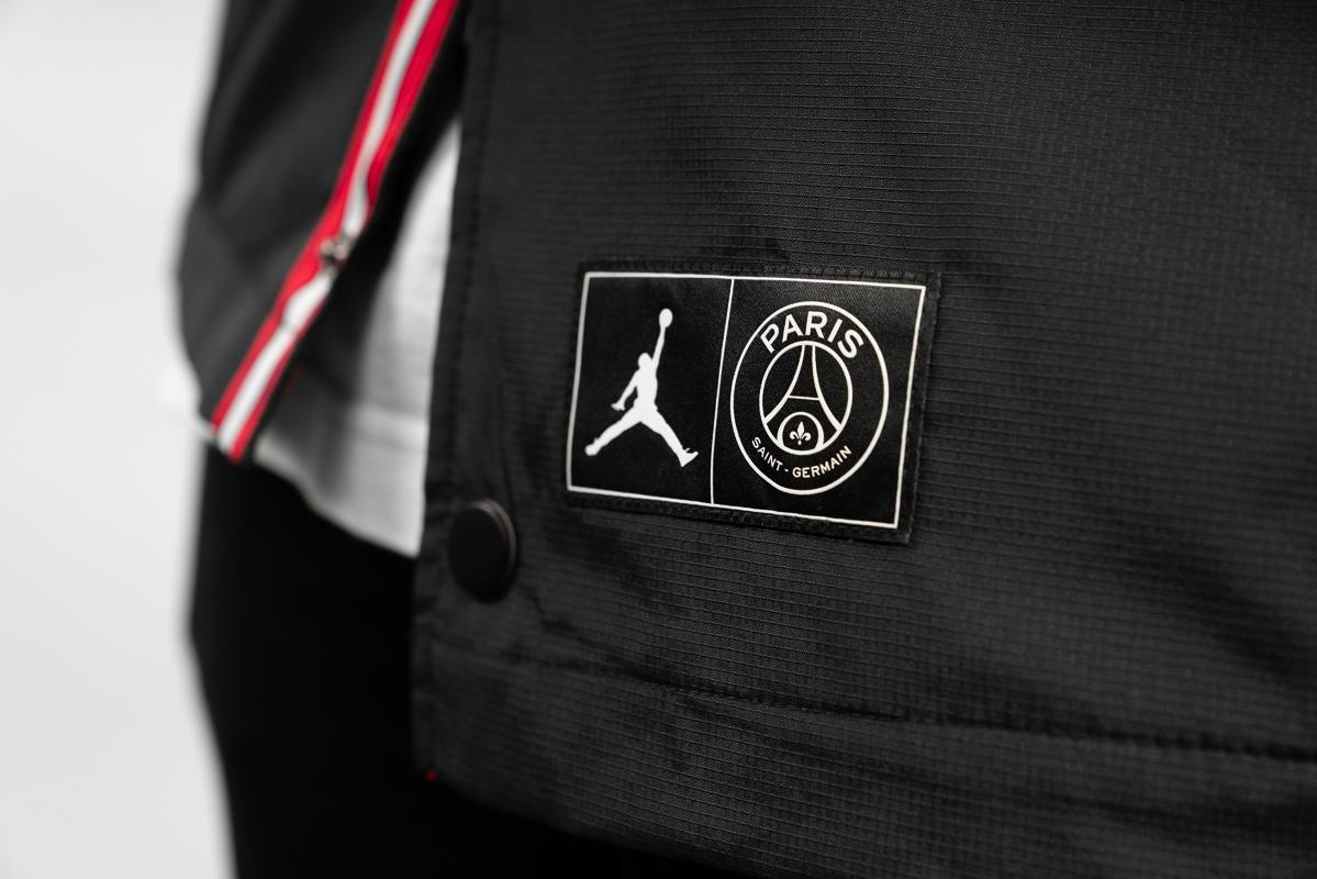 air jordan psg coach jacket black