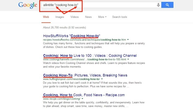 quotation marks in searches