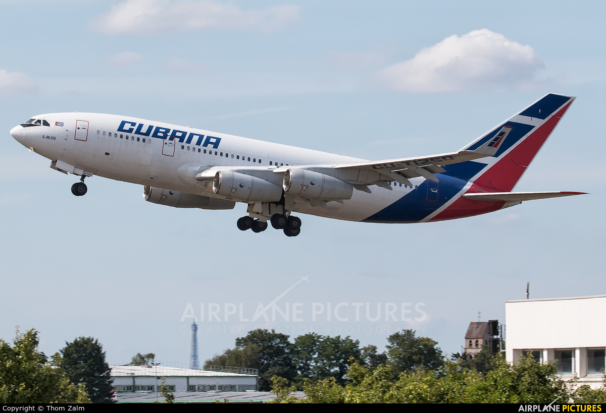 Cubana CU-T1250 aircraft at Paris - Orly