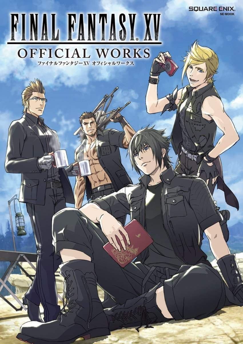 final fantasy xv official works square enix exclusive book poster