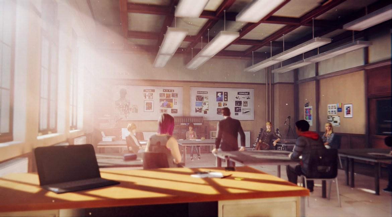 A sala de aula onde a acção começa. Ou recomeça. Ou começou. Ou term... raios!