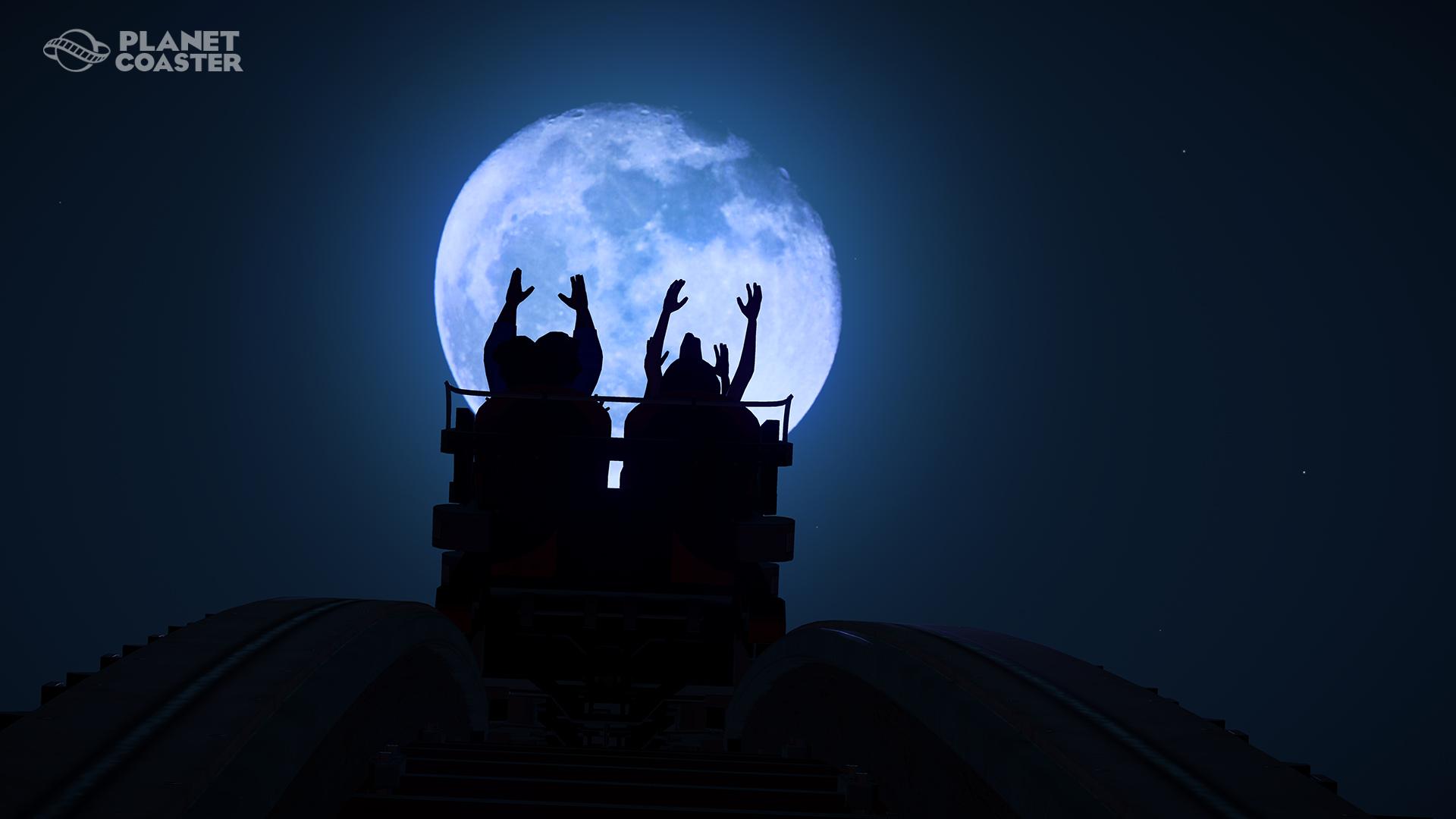 Planet Coaster night ride
