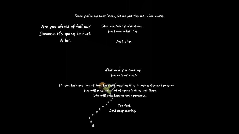Um dos exemplos que acabam por quebrar o envolvimento no jogo... texto a mais.