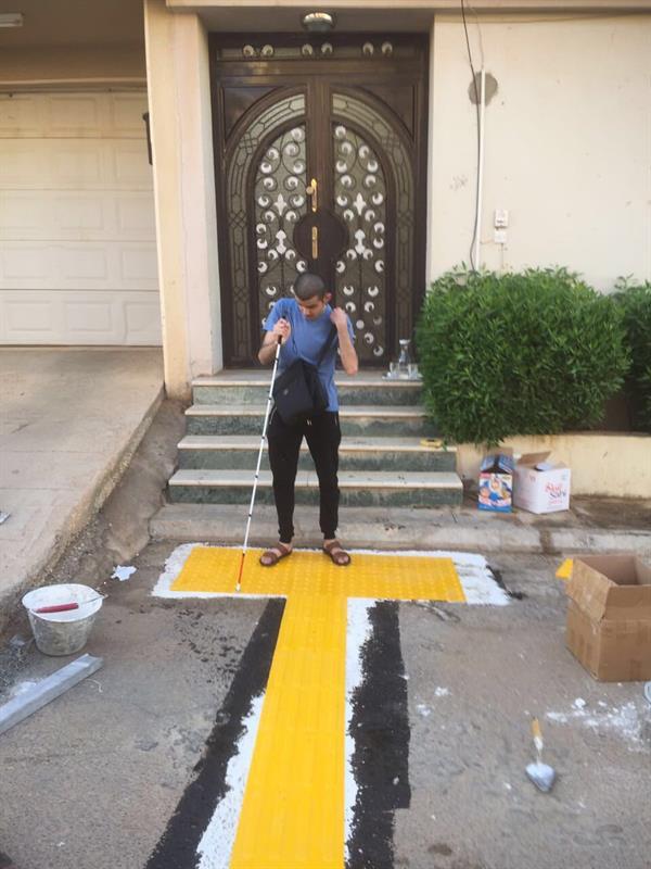 لأول مرة في المملكة.. تنفيذ مسارات تربط منازل المكفوفين بالمساجد