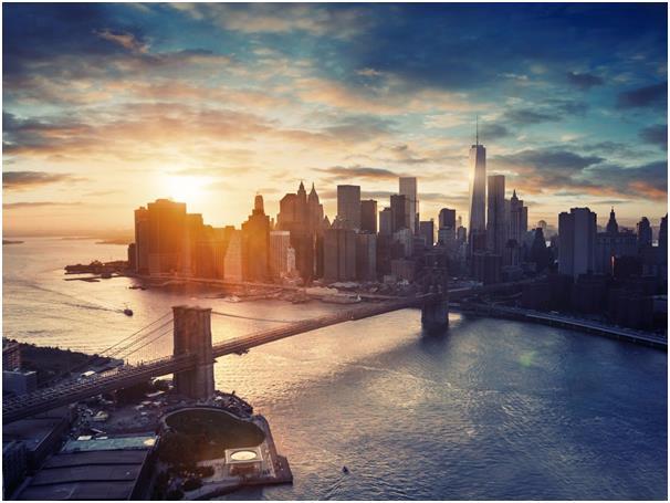 وكان المركزالعاشر من نصيب مدينة نيويورك التي يحيط بها نهر هدسون والمحيط الأطلسي، تشتهر بالعديد من الأشياء مثل تاريخها الموسيقي