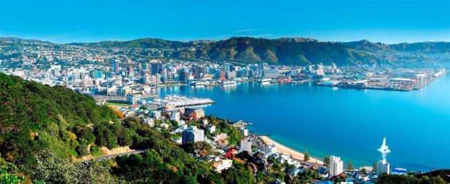 """وجاءت """"ويلينجتون"""" عاصمة نيوزلندا وثاني أكبر مدنها في المركز السابع."""