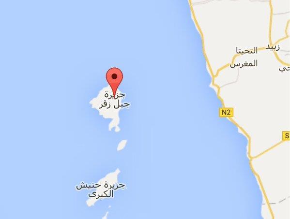جزيرة جبل زقر اليمنية