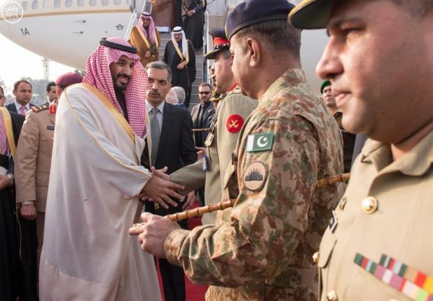 ولي ولي العهد يصل باكستان