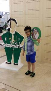 رسالة شكر من ذوي الإعاقة لخادم الحرمين على لوحات فنية في معرض بجامعة الملك سعود
