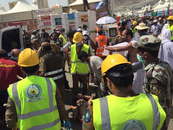 الدفاع المدني: 150 حالة وفاة و400 إصابة نتيجة تدافع الحجاج بمشعر منى