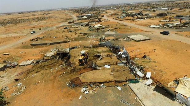 """""""أمانة الرياض""""تبدأ أعمال إزالة سوق الإبل العشوائية"""