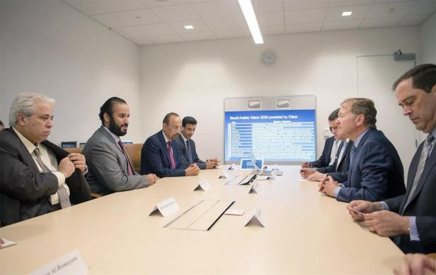 محمد بن سلمان يواصل لقاءاته برؤساء كبرى الشركات الأمريكية