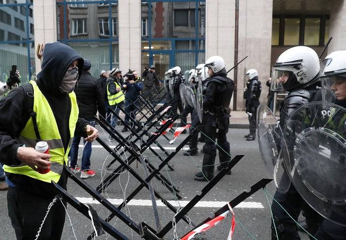 مظاهرات السترات الصفراء في بروكسل