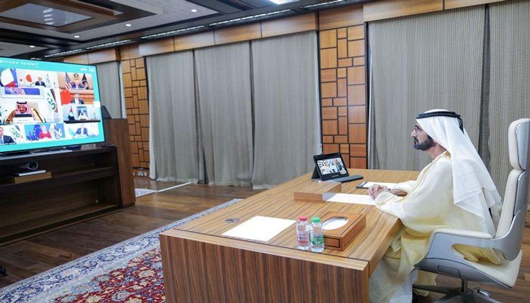 الشيخ محمد بن راشد آل مكتوم أمام قمة العشرين