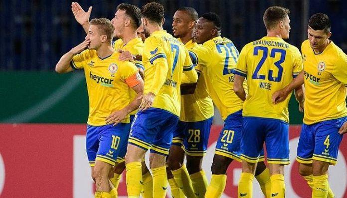 Eintracht Braunschweig eliminated Hertha Berlin from the German Cup