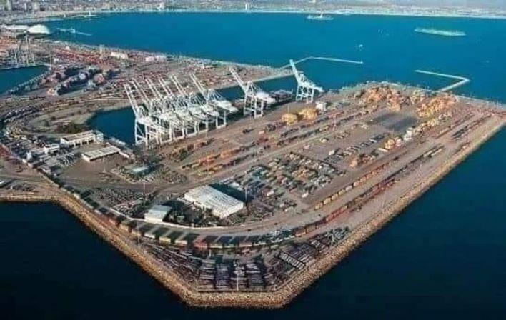 مجسم لمشروع ميناء الحمدانية في الجزائر بشراكة صينية