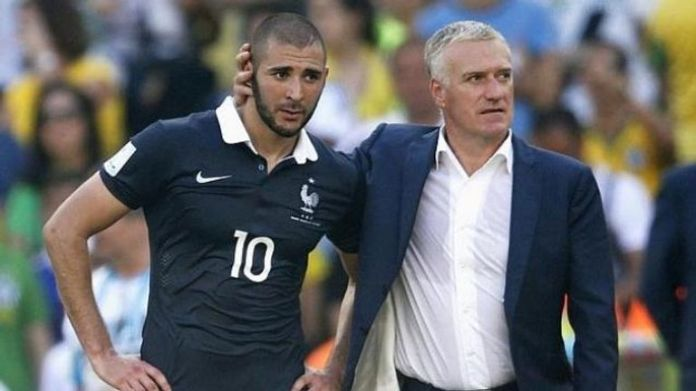 Didier Deschamps, France coach and striker Benzema