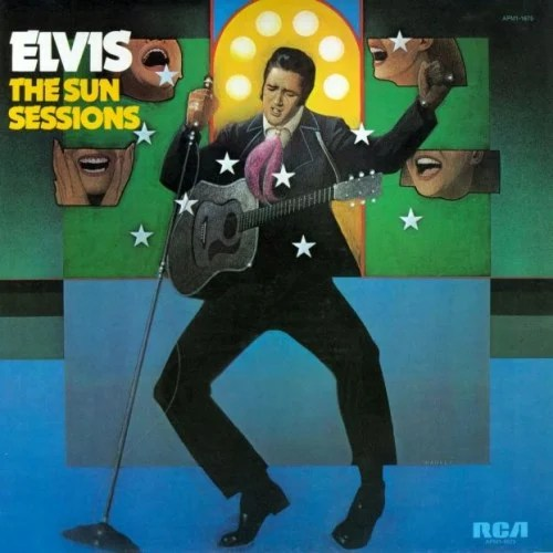 Image result for elvis presley the sun sessions album cover