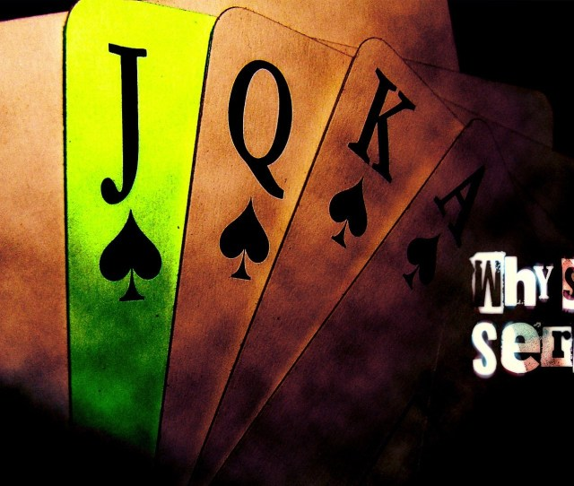 Why So Serious Cards Digital Art Luck Wallpaper