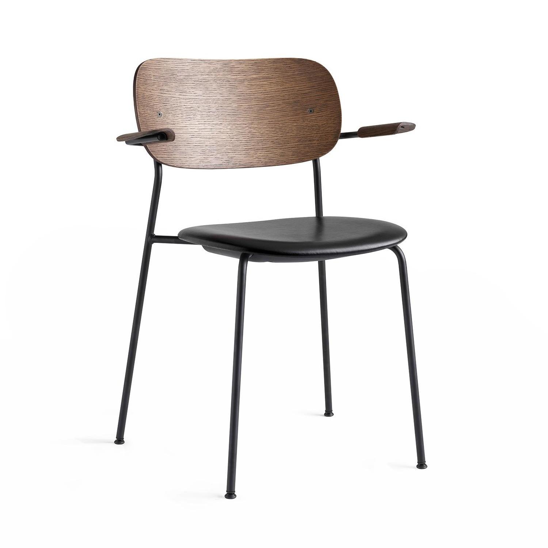 chaise avec accoudoirs co dining cuir