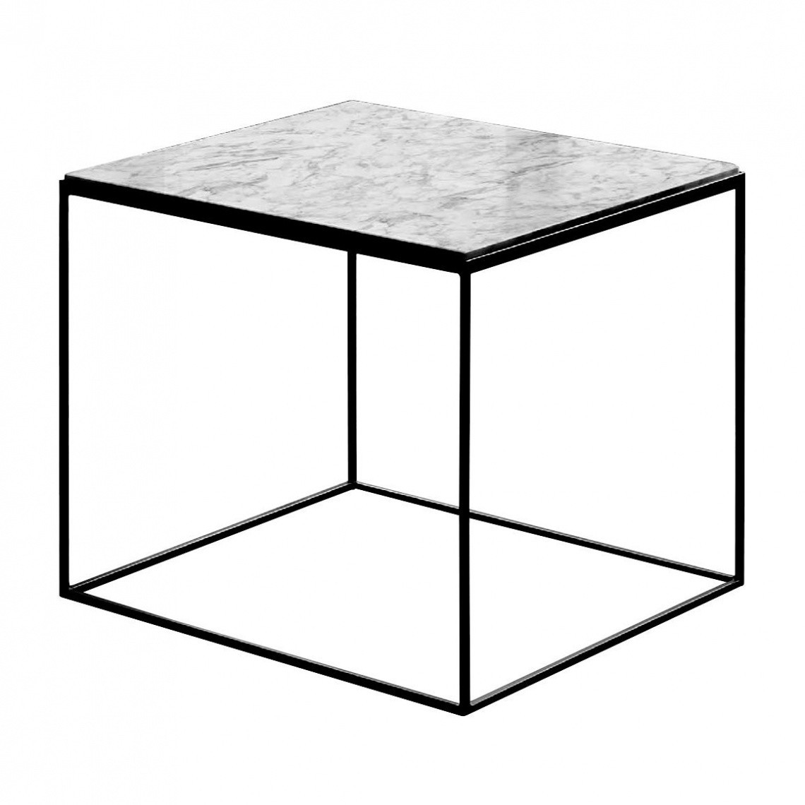 slim marble side table 54x54x48cm