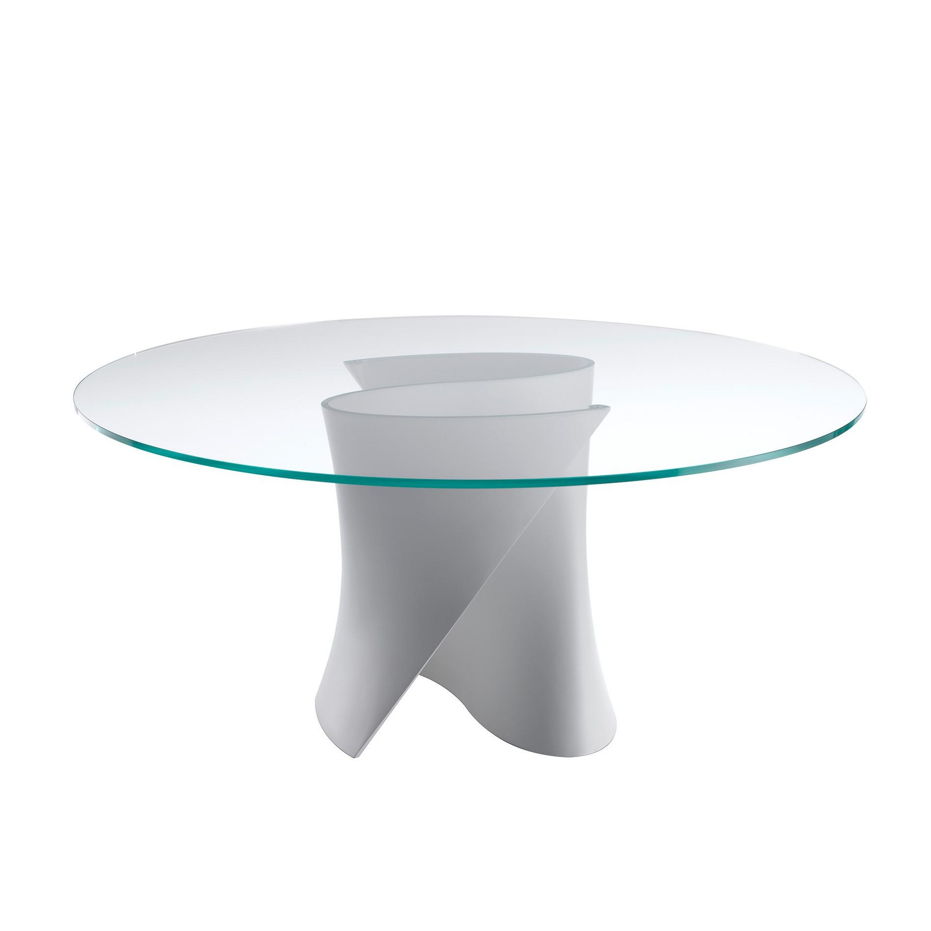s table dining table white base