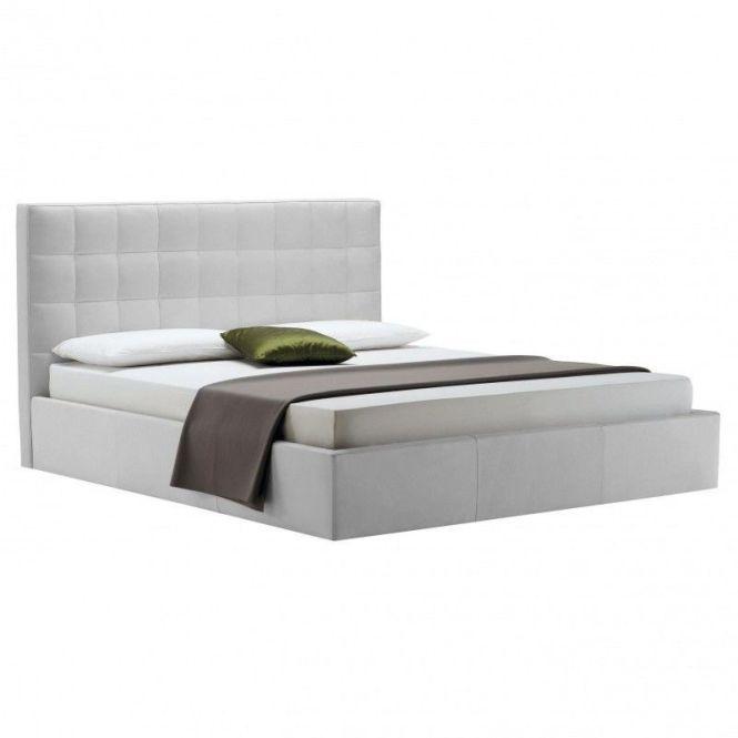 Zanotta Overbox Double Bed With Bedding Box Creme Fabrics Teodoro