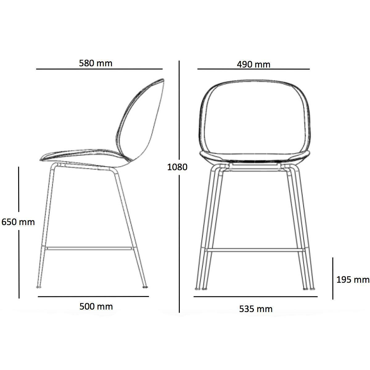 Beetle Counter Chair Black Base 108cm