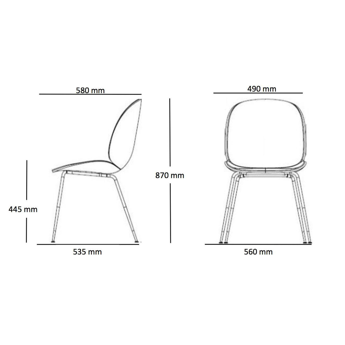 Beetle Dining Chair Black Base