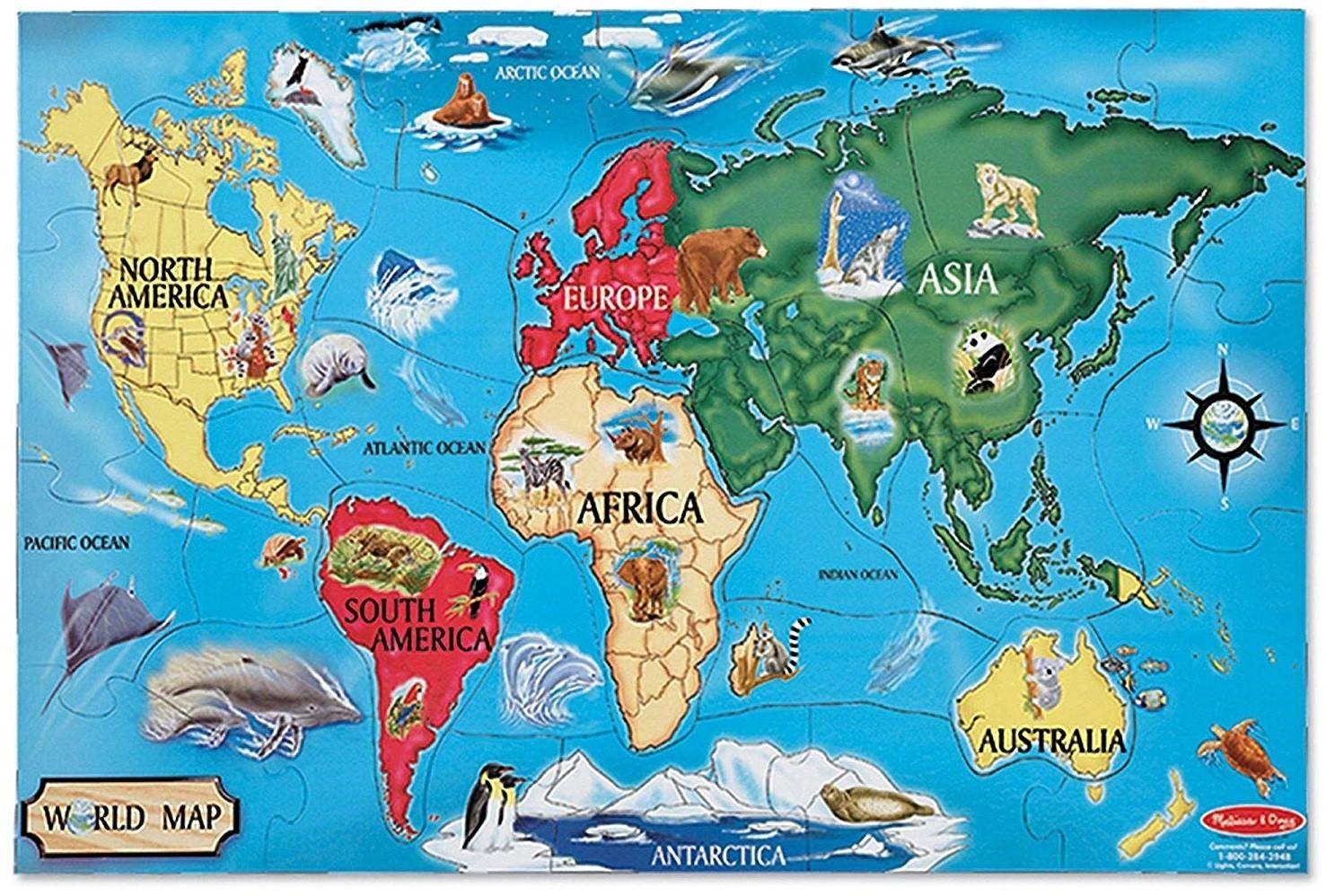 Continents Worksheet Kindergarten