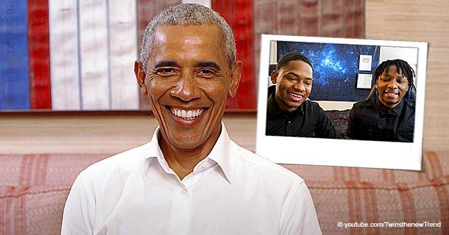 sur YT:  Barack Obama surprend les stars jumelles de YouTube Tim et Fred Williams et discute  infos