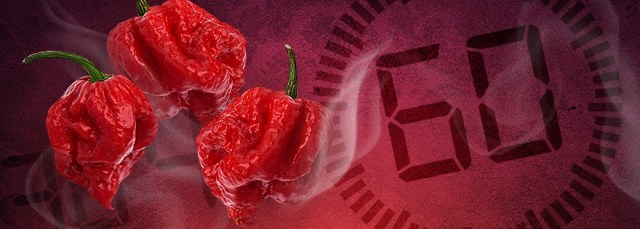 Image result for most reaper peppers eaten in 60 seconds