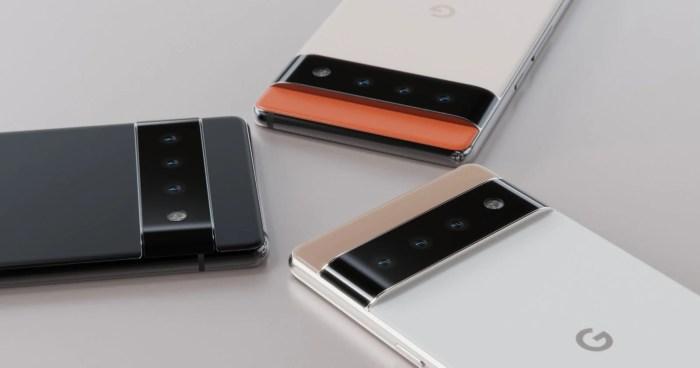 Diseño del Google Pixel 6, cámaras