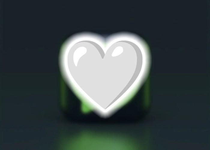 Emoji de corazón de color blanco en WhatsApp