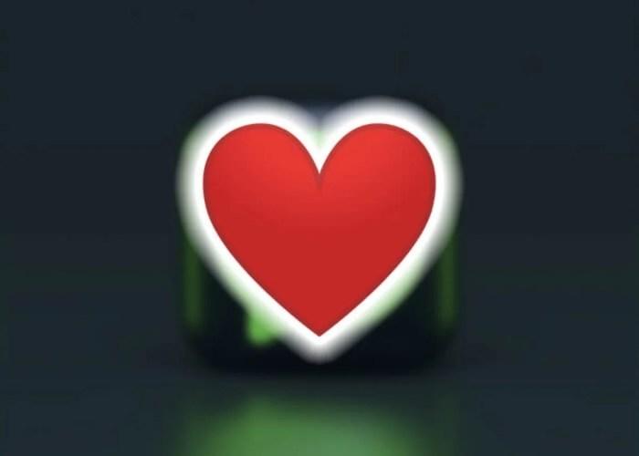 Emoji de corazon rojo en WhatsApp
