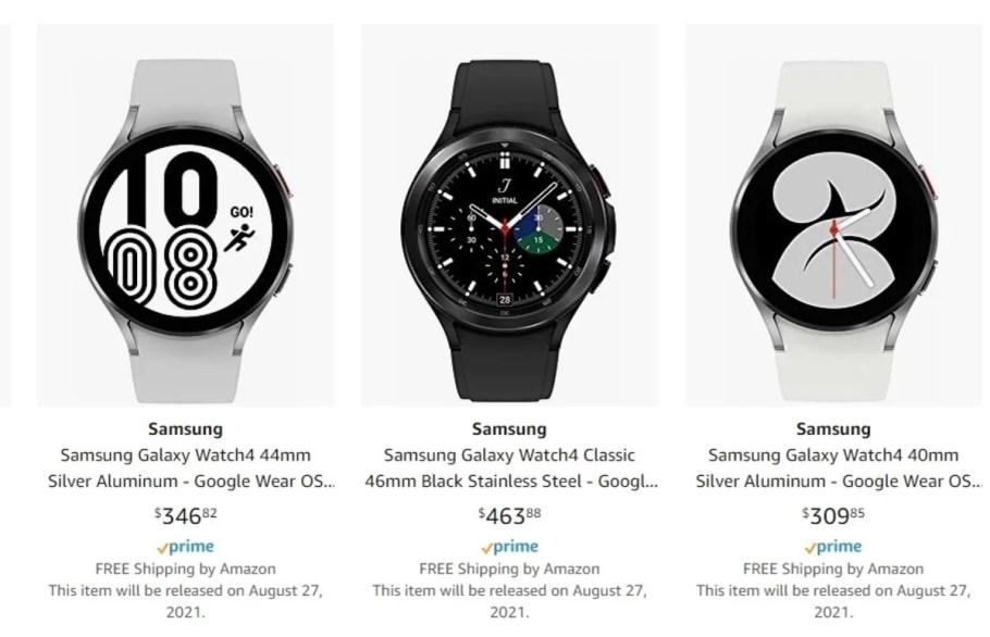 Samsung Galaxy Watch4 en Amazon