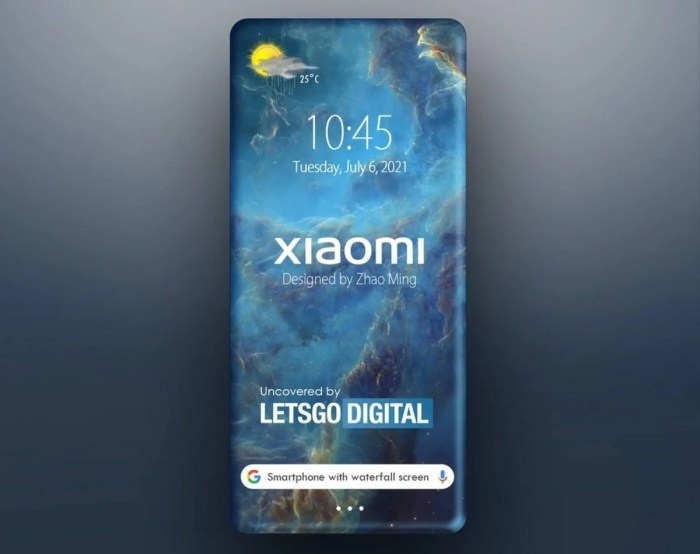 Nueva patente de Xiaomi con pantalla envolvente
