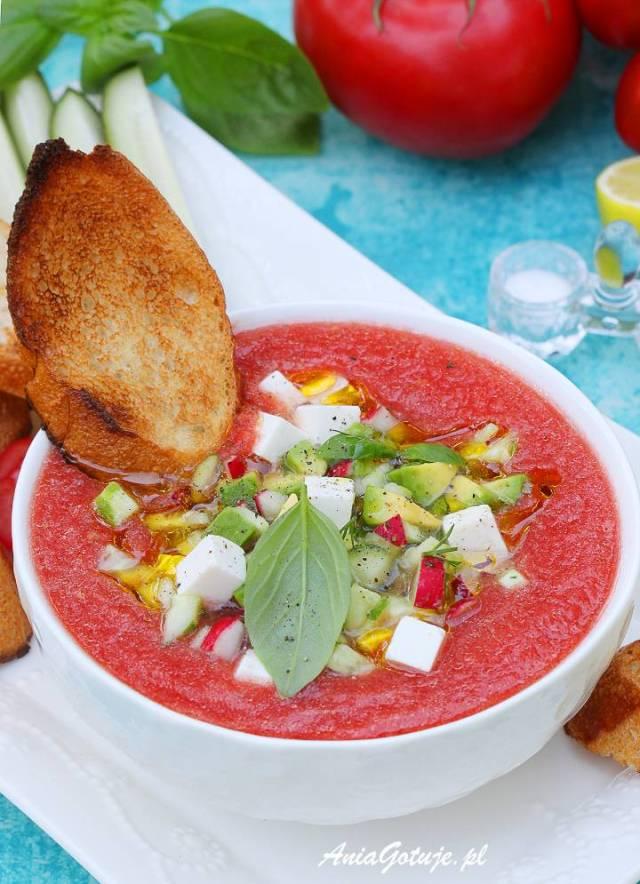 Томатный холодный суп, 2 шт.