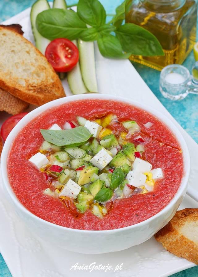 Томатный холодный суп, 8