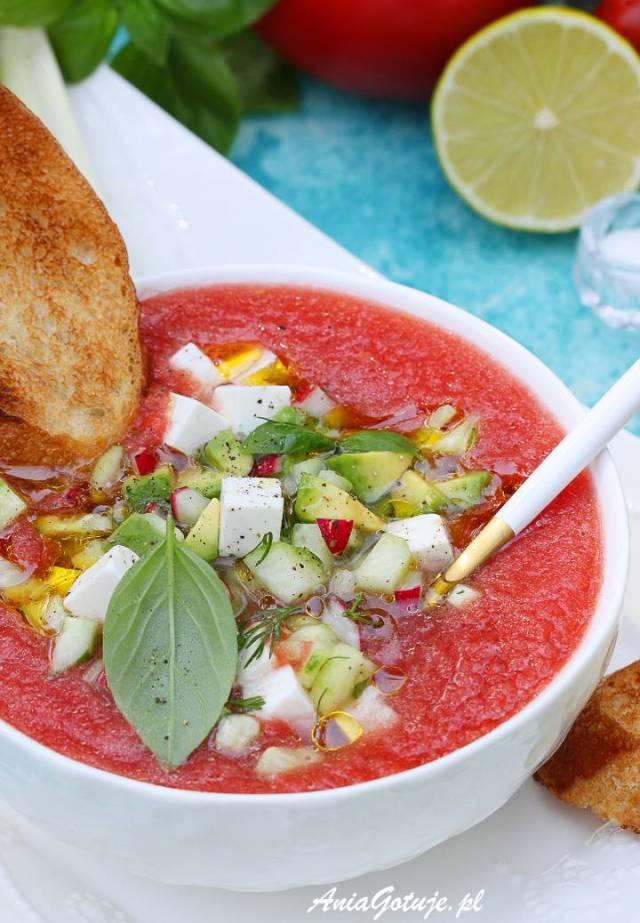 Томатный холодный суп, 9
